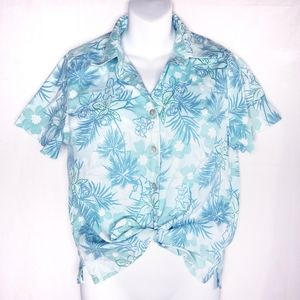 Vintage Hawaiian Floral Short Sleeved Button Down
